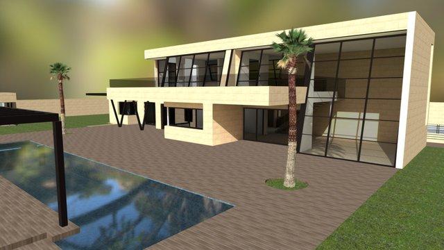 Chalet_Color_Baked_2 3D Model