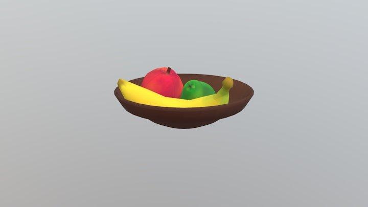 Bowl Of Fruit 3D Model