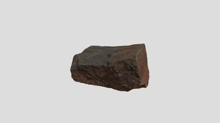 Small Rock Red Clay 02 3D Model