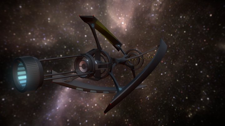 """Starship Avalon from """"Passengers"""" 3D Model"""