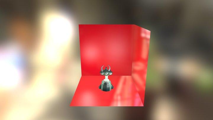 Cartoon Turret 3D Model