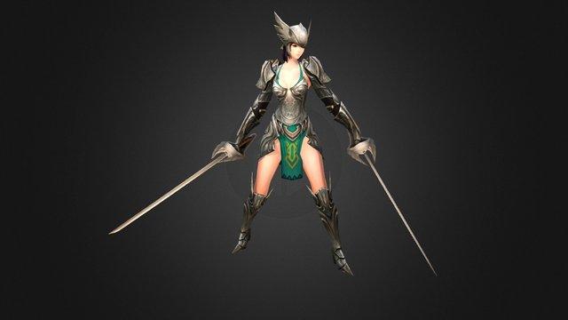 Warriors2@woman 3D Model