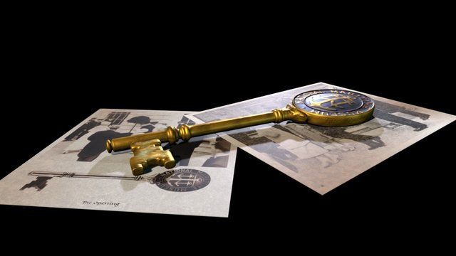 The Golden Key 3D Model