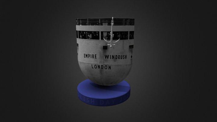 Stern model of the ship Empire Windrush 3D Model