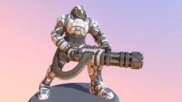 """sci-fi heavy armor: MMB-03 Mk4 """"Colossus"""" 3D Model"""
