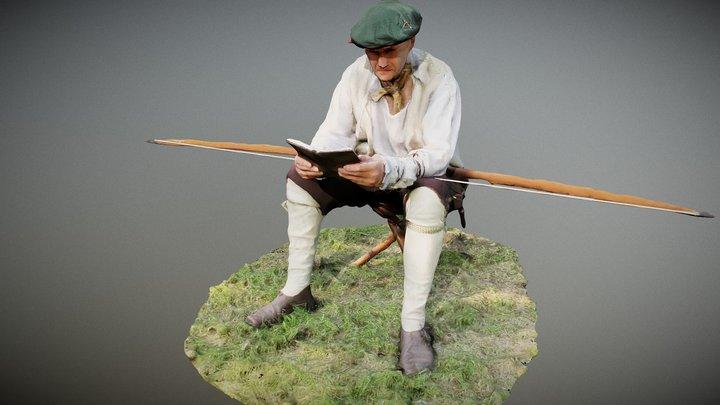 Mary Rose Tudor Archer 3D Model