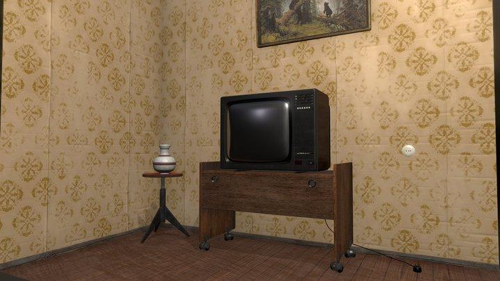 Soviet style living room 3D Model