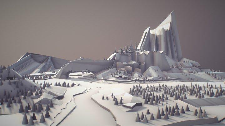 Valley Town 3D 3D Model