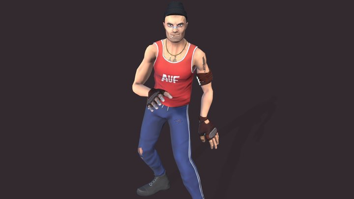 Dancing Thug - Low-poly character 3D Model