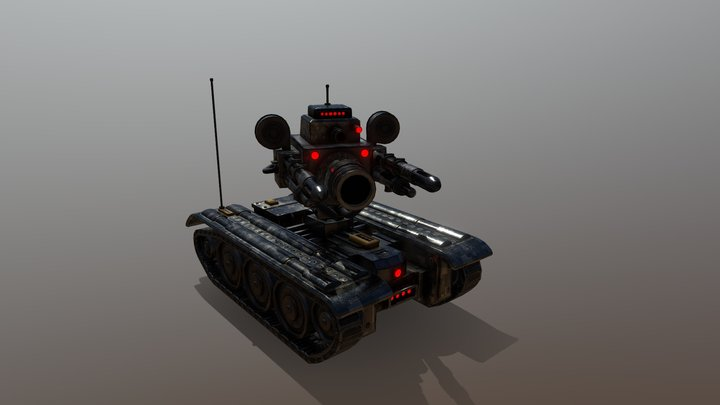 Military Suppression Drone: RSD-1 Droid 3D Model
