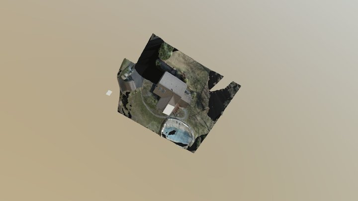 Aerial Photogrammetry Map of Property 3D Model