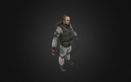 900tri soldier 3D Model