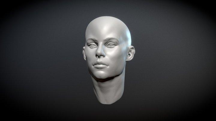 Female head sculpt. 3D Model