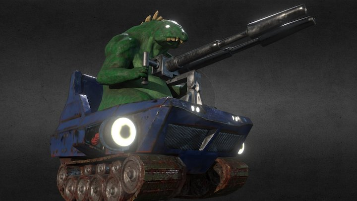 Tank Dinosaur 3D Model