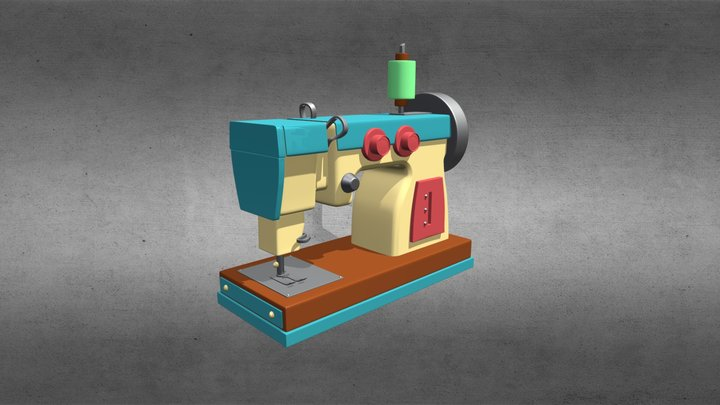Sew Machine 3D Model