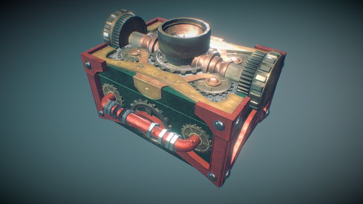 Steampunk Chest  3D Model
