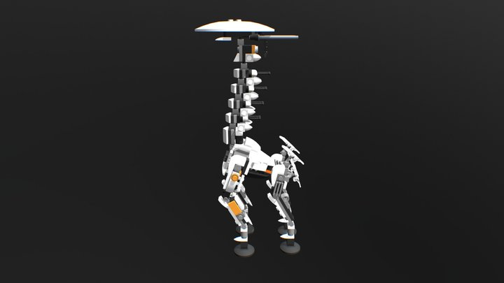 Lego Tallneck Horizon Zero Dawn 3D Model
