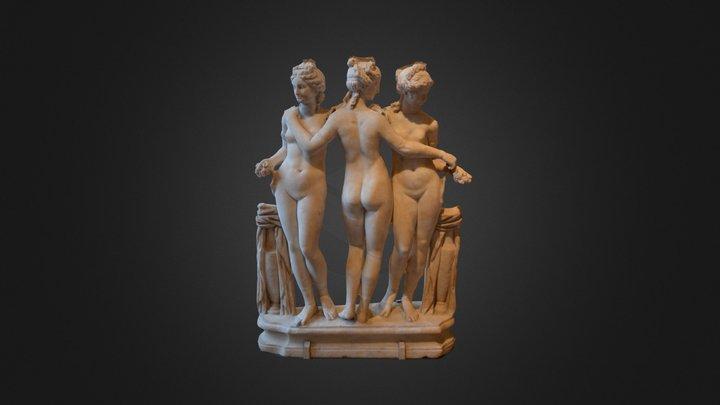 Les Trois Grâces 3D Model