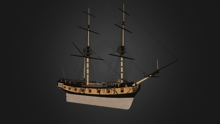 Snow Warship - Tides of War: Letters of Marque 3D Model