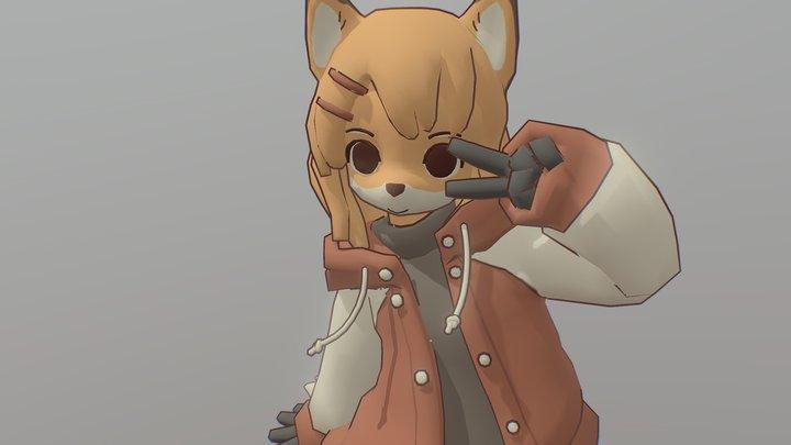 Fox Girl 3D Model