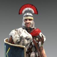 Gnaues Julius Lupus - Roman Centurion 3D Model