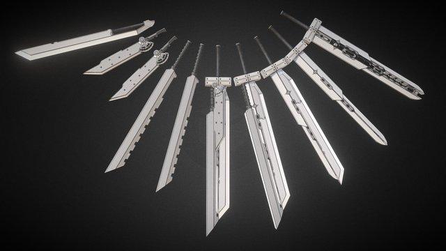 Final Fantasy VII Cloud Strife Weapon 3D Model