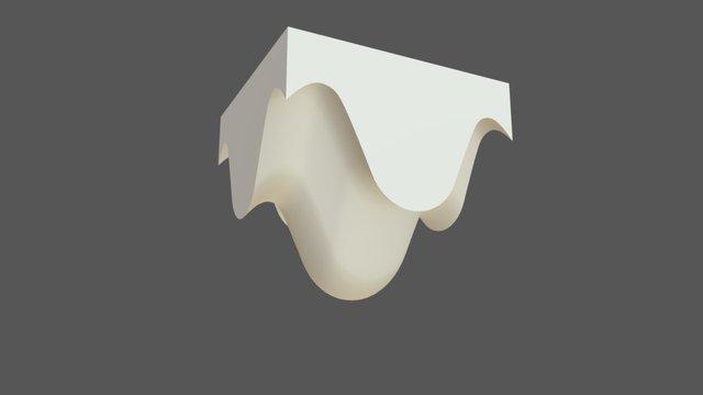 Matriz contenedor comestible 3D Model