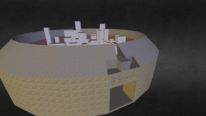 Fighting Arena 3D Model