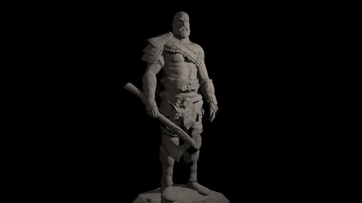 kratos from god of war (free download) 3D Model