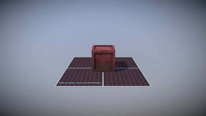 My first crate 3D Model