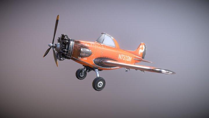 Indie Pixel Airplane - Unity 2017 3D Model