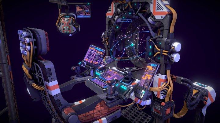 Sci-fi Wayfinder Unit 3D Model