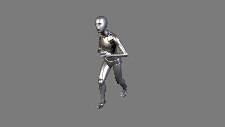 Generic Running 3D Model