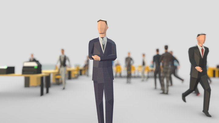 Business Men 3D Model