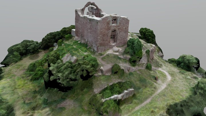Ermita de Sant Genís de Rocafort (s. XI) 3D Model