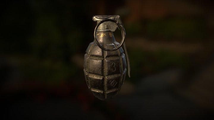 WW2 Grenade MK2 3D Model