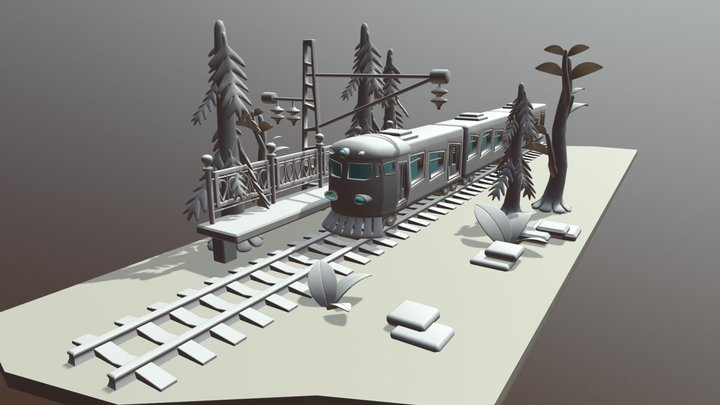 Rail Way Meet 3D Model