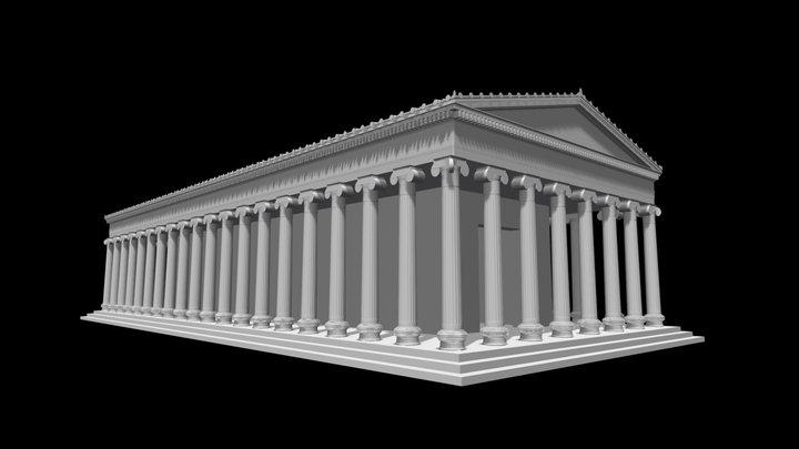 METAPONTO - Tempio D 3D Model