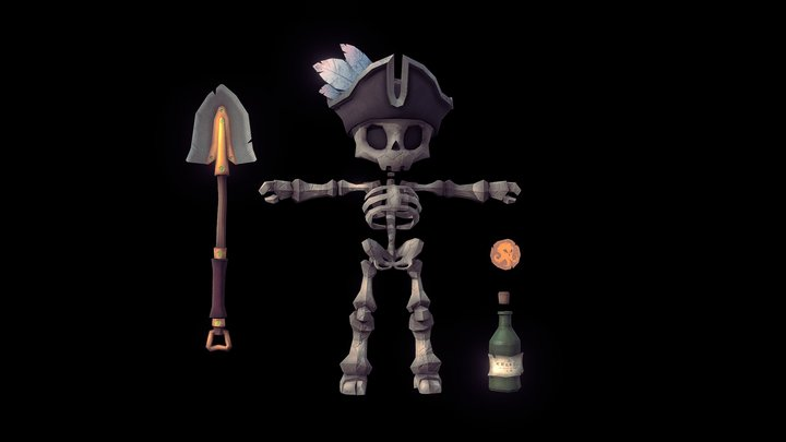 Skeleton Sea of Thieves 3D Model