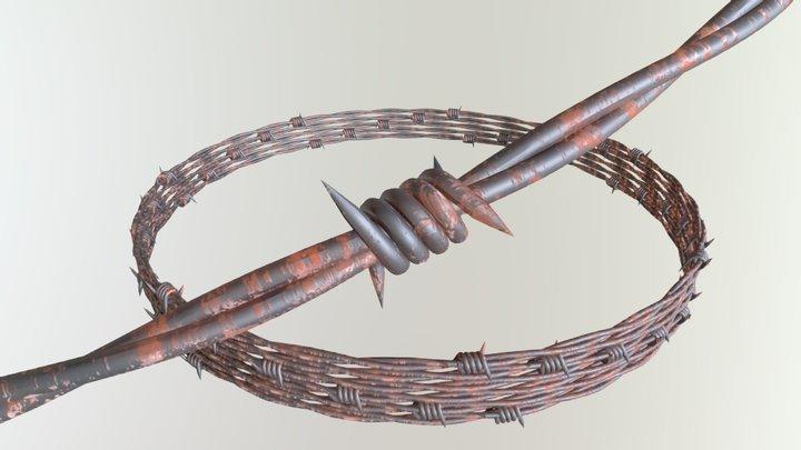 Barbed Wire - Alambre De Púas 3D Model
