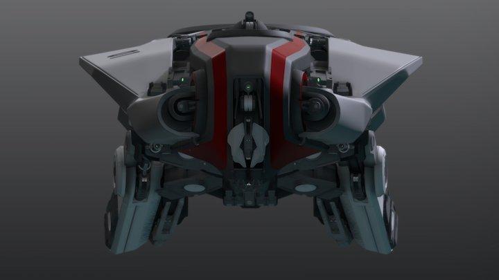 Medium Tactical Cruiser - Feronia - Tier V 3D Model