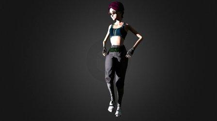 Locking Hip Hop Dance 3D Model