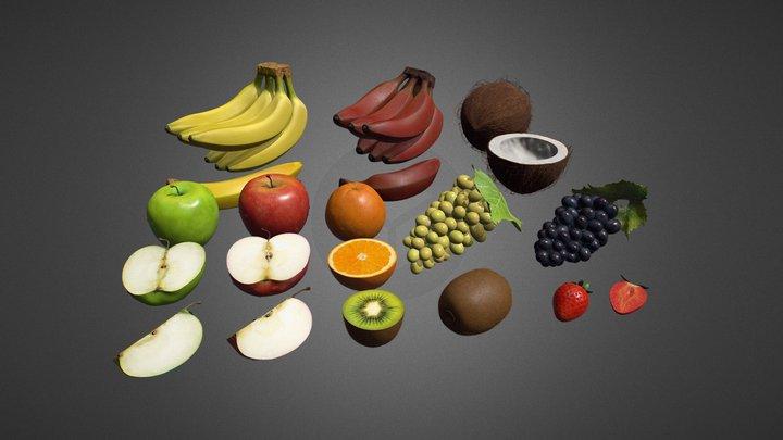 Fruit Pack 3D Model