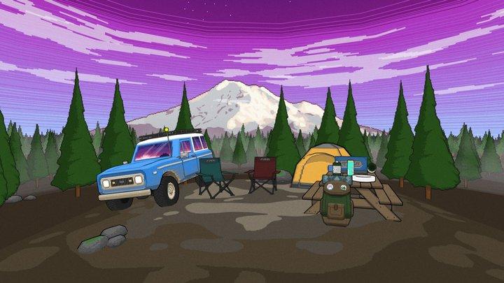 Gone Camping 3D Model