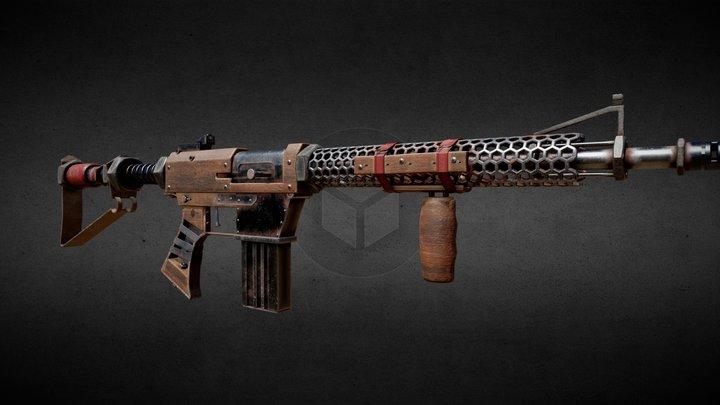 Hand-made Rifle 3D Model