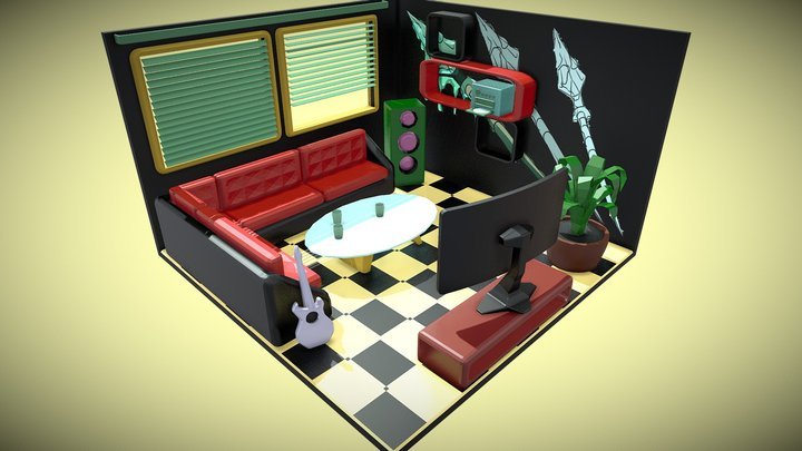 Backstage 3D Model