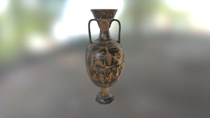 Apulian Red-Figure Amphora 3D Model