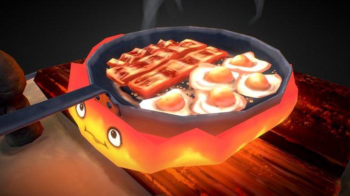 Howl's Moving Castle Calcifer Breakfast 3D Model