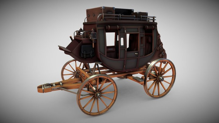 Stagecoach 3D Model