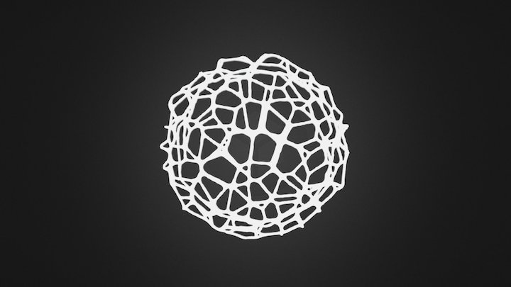 Drink coaster - Voronoi #9 (for 3D printing) 3D Model